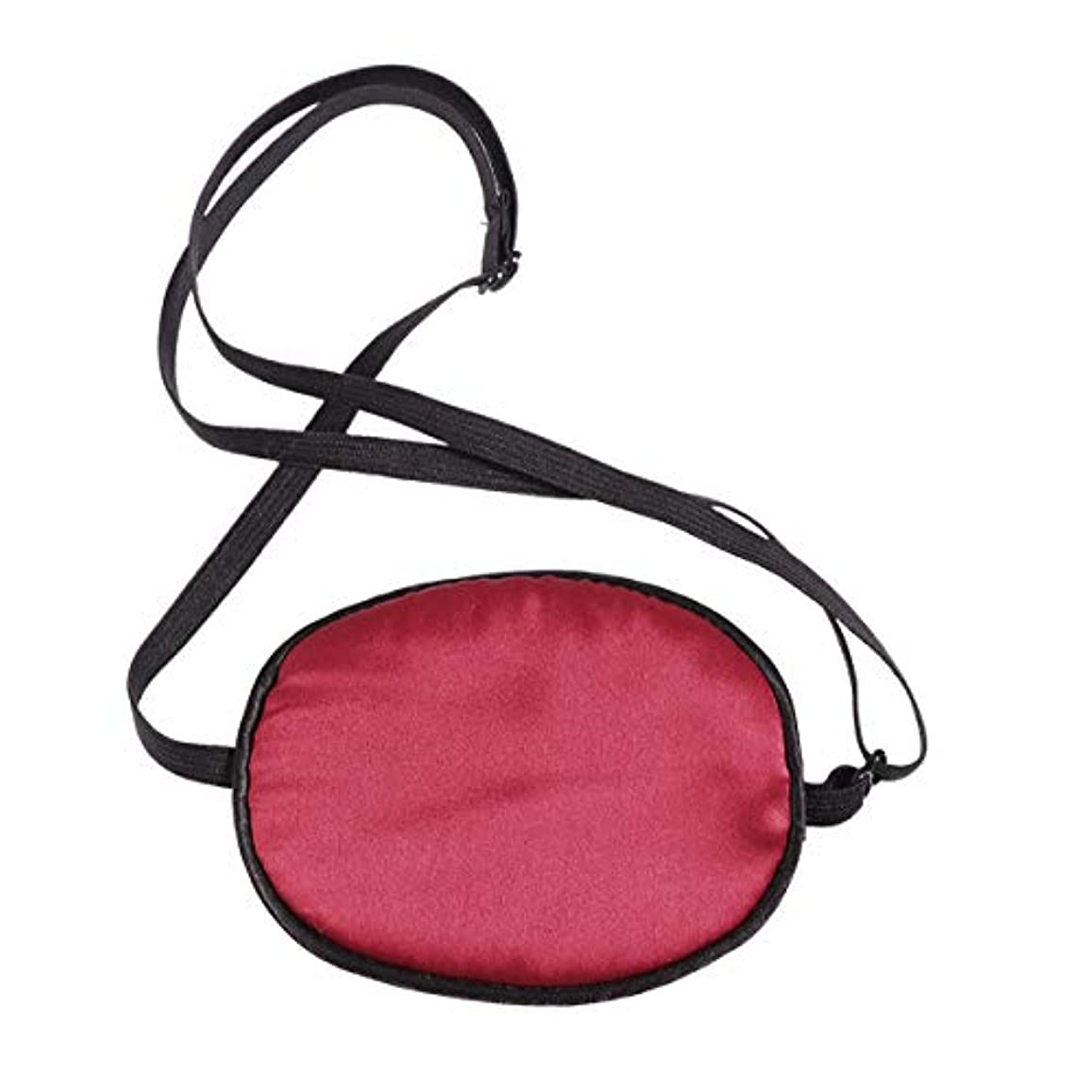 民兵巻き取り剃るHEALIFTY 睡眠の目隠し調節可能な絹の海賊目のパッチ子供の弱視のためのソフトで快適な単一の目のマスク正面の怠惰な目