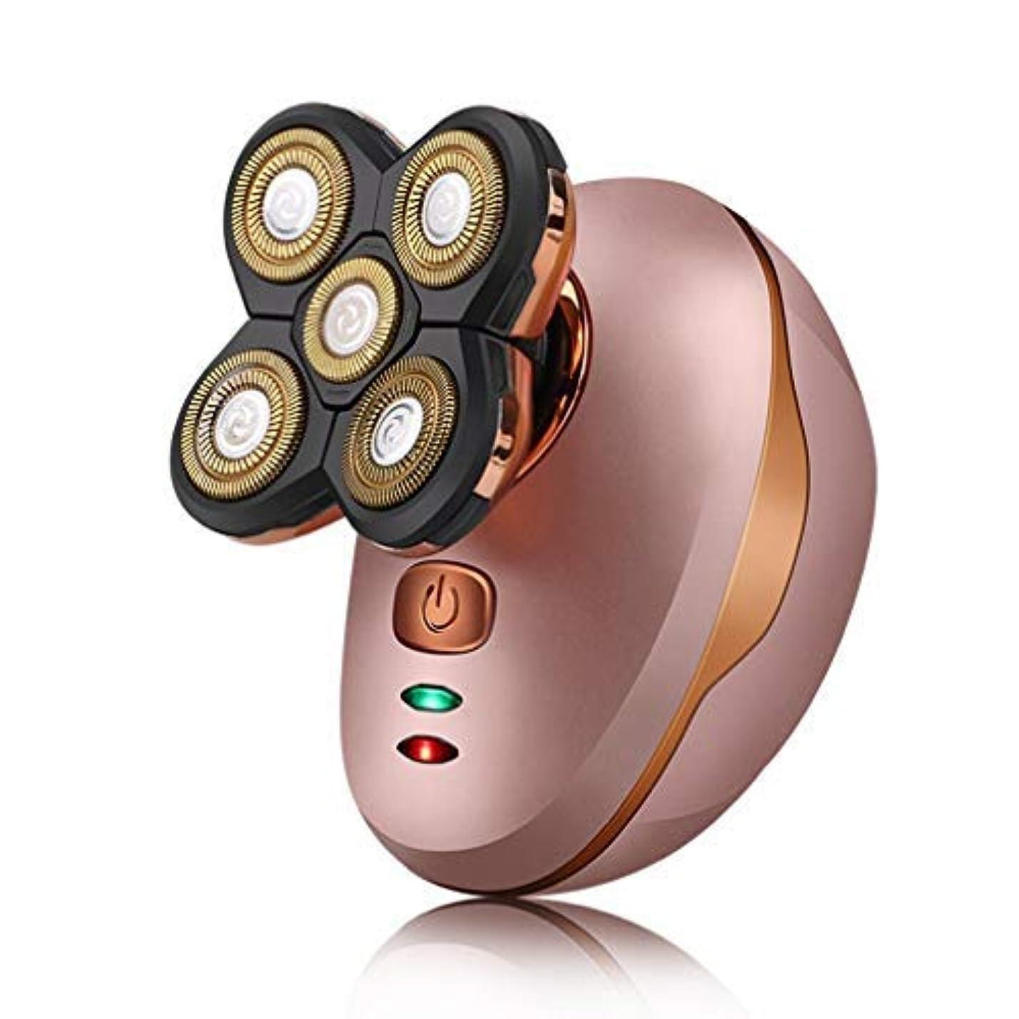 忌み嫌う画家操る耐久性のある一般的な5頭防水シェービング刃カミソリ電気シェーバー用USB充電式ウェットドライポータブル