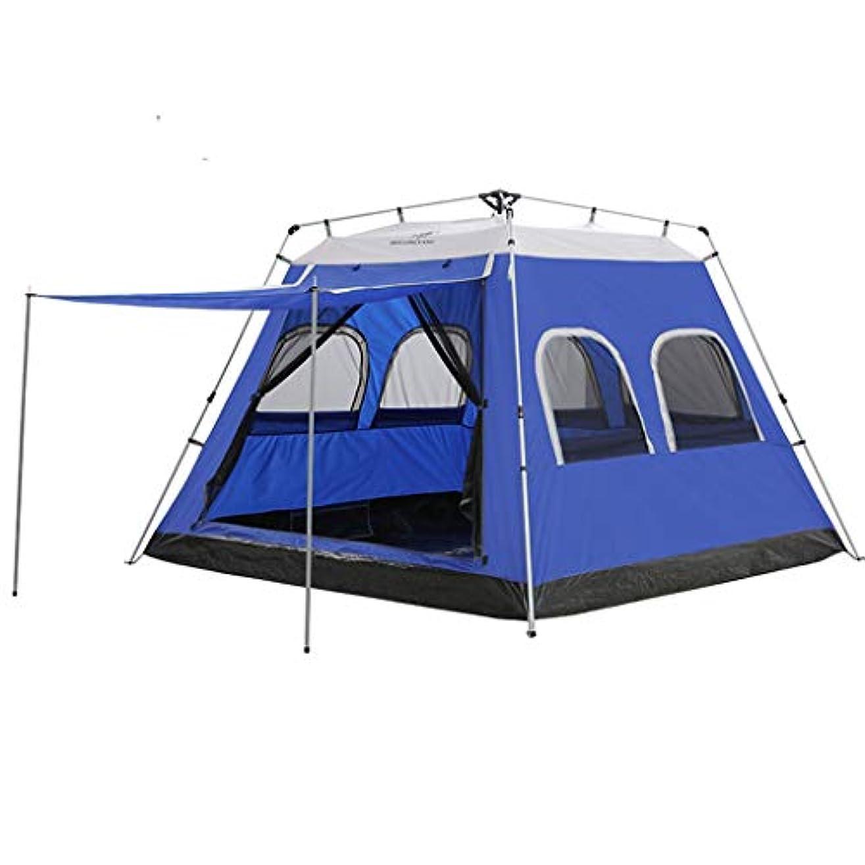 ベリー致命的連結するテント、屋外製品5-6単層鉄パイプ油圧自動テント1ドア6窓換気と換気