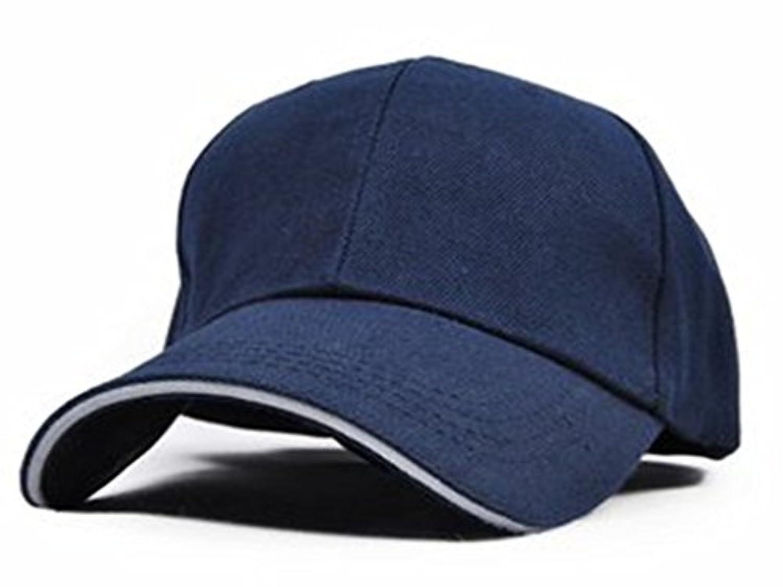 【ツバライン入り】 シンプル 無地 コットン キャップ 帽子 17カラー 白 黒 赤 グレー 他