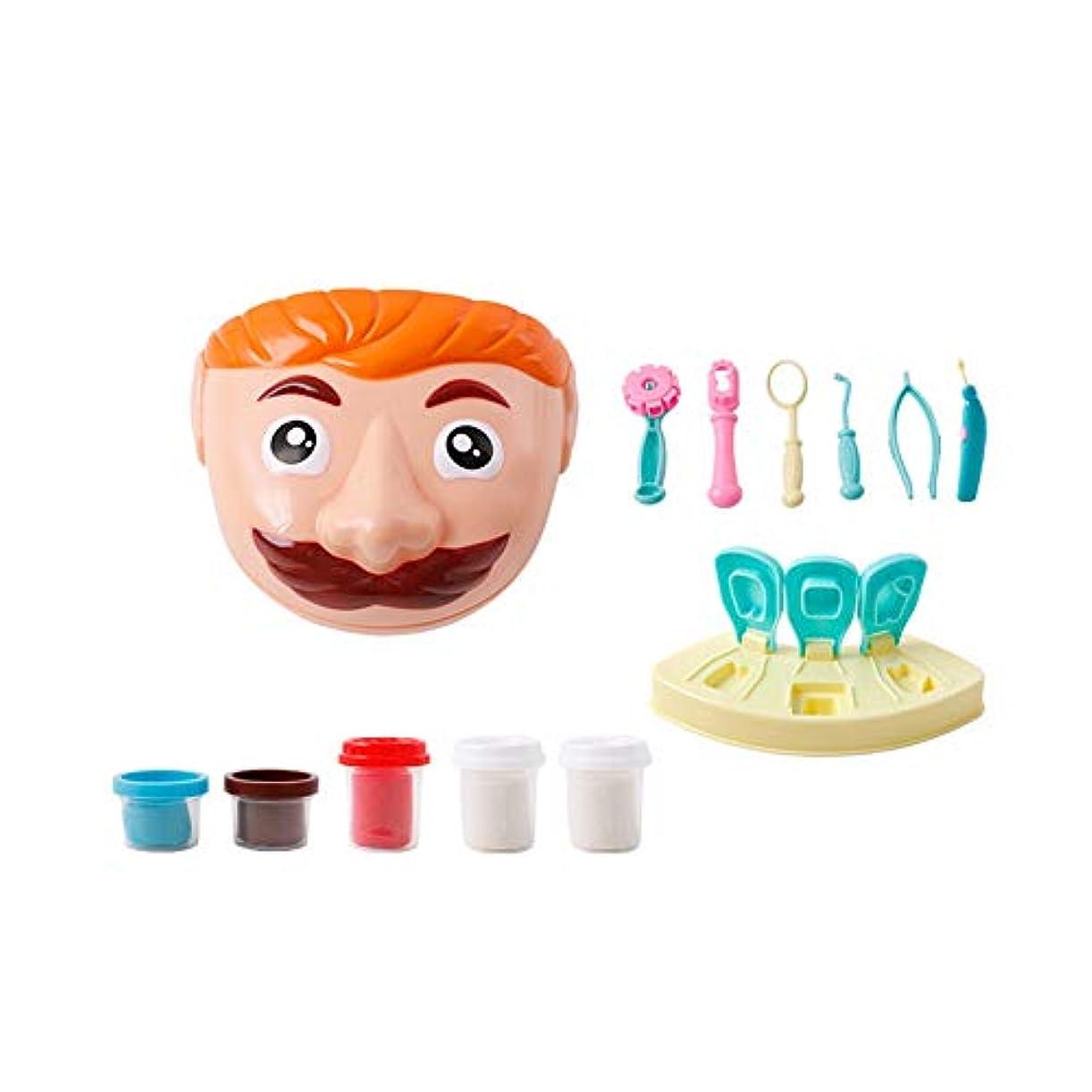 有料情熱的血色の良いSnner ドクターバッグを再生する知育玩具多色の非毒性クラインゲーム歯科医ツールをドレスアップ幼児服ドクターロールプレイング学校の教室のセット
