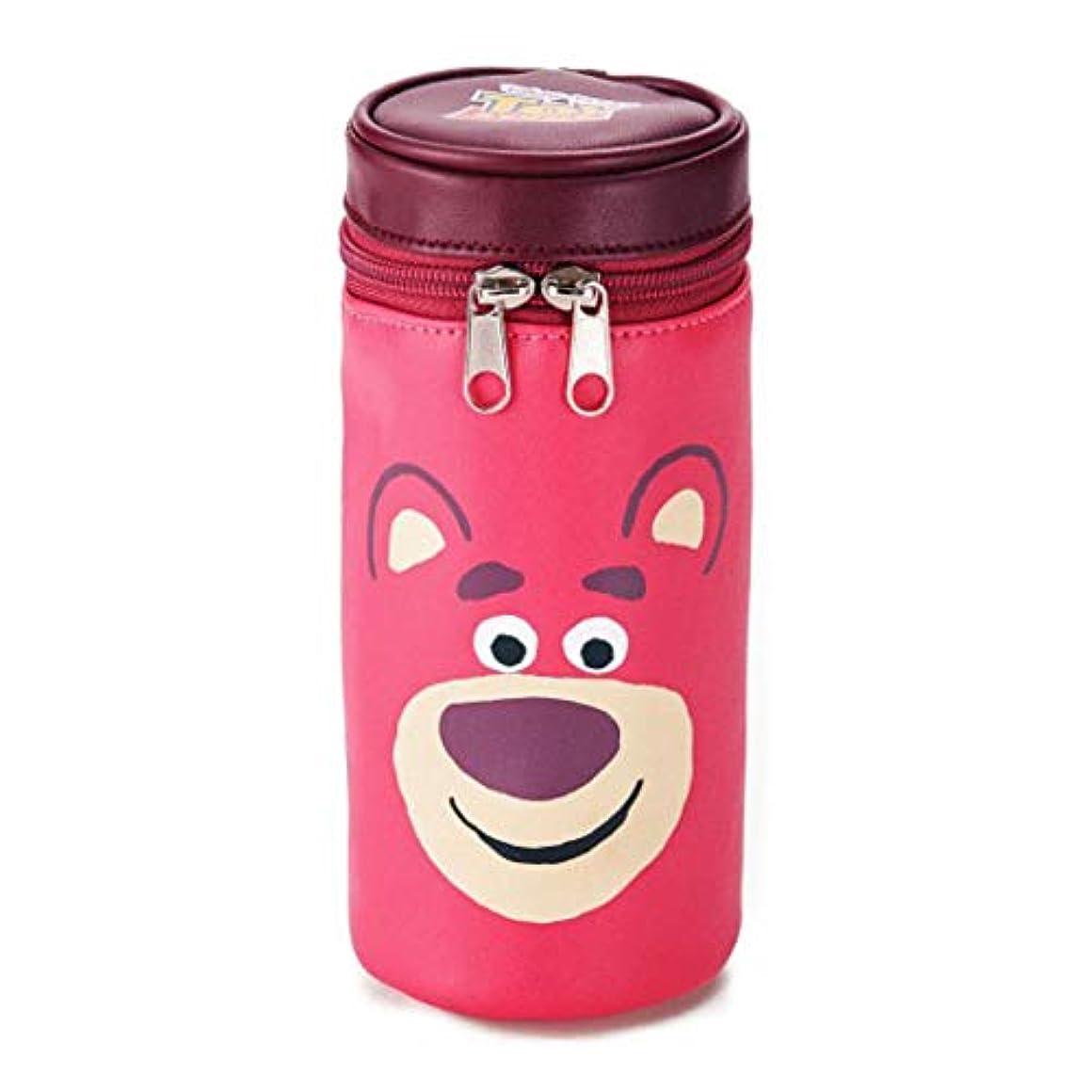 有益な歴史糸[ベルメゾン]ディズニー ポーチ 小物入れ 筒型マルチポーチ カラー ロッツォ(ピンク)