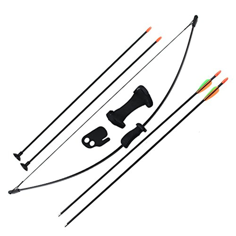 Sinoart 子供のアーチェリーの弓 4つの矢印を持つ 屋外の狩猟ゲームために (ブラック)