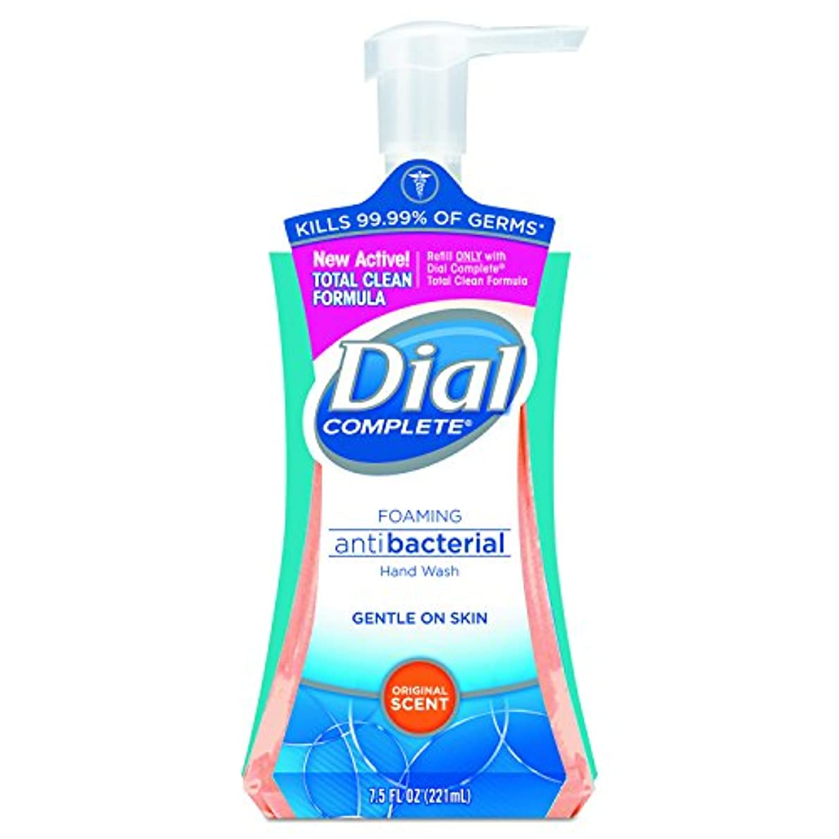平和的噛む未使用Dial Complete Foaming Hand Wash, Liquid, Fresh Scent, 7.5 oz Pump Bottle, 8/Carton