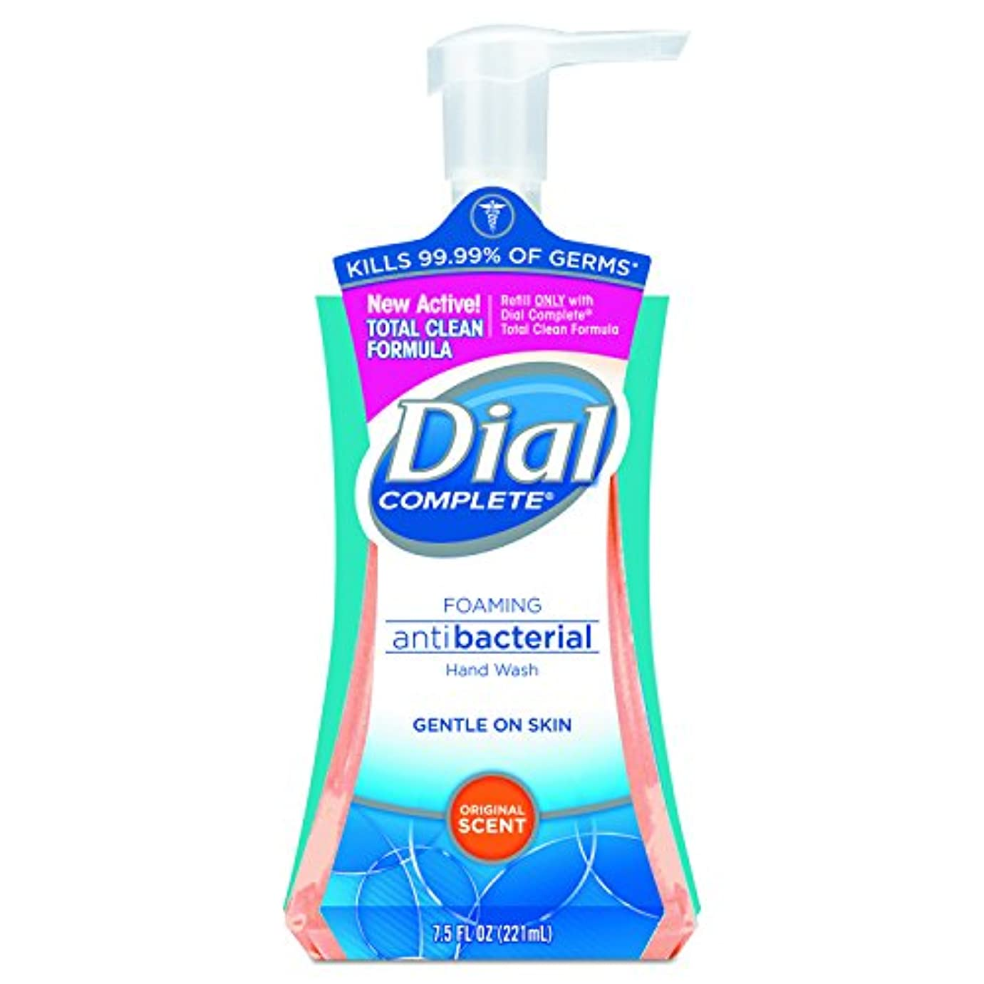 Dial Complete Foaming Hand Wash, Liquid, Fresh Scent, 7.5 oz Pump Bottle, 8/Carton