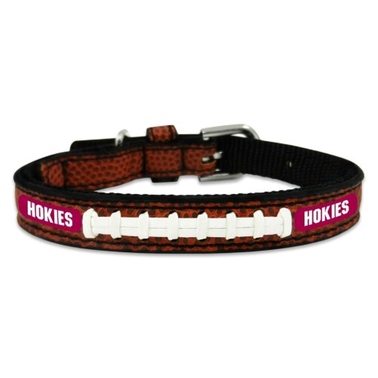 小麦確かに象Virginia Tech Hokies Classic Leather Toy Football Collar
