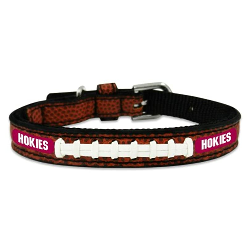 チーフ平日うまVirginia Tech Hokies Classic Leather Toy Football Collar