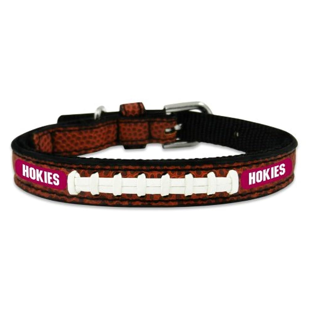 一族無限大太平洋諸島Virginia Tech Hokies Classic Leather Toy Football Collar