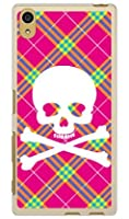 SECOND SKIN スカルパンク ピンク (ソフトTPUクリア) / for Xperia Z5 501SO/SoftBank  SSOXZ5-TPCL-701-J097