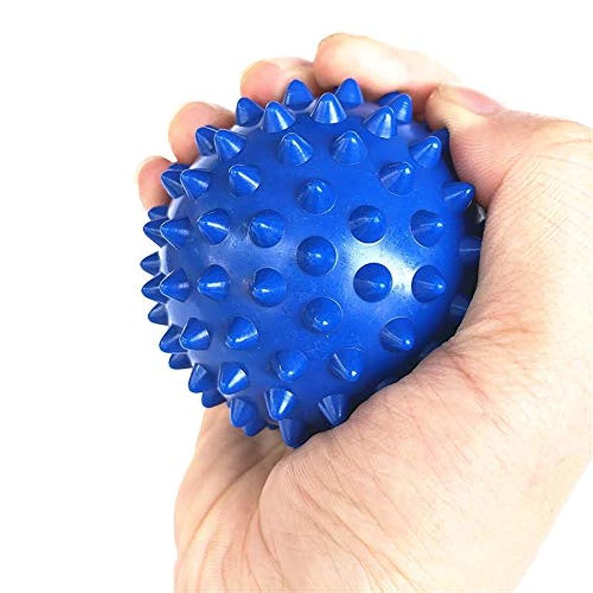 不道徳認証なすTyou ラクロスボールテンションリリースマッサージボールのための足のマッサージボールのためのMyofasicalボールの運動ボールの青