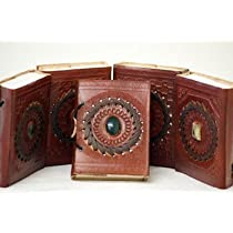 MEDIEVAL-LARP-SCA-RE ENACTMENT-Pagan-Wicca-Handfasting LEATHER BOUND BOOK 6 X 4.5 by HP EMPORIUM [並行輸入品]