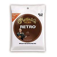 MARTIN MLJ13 Retro Acoustic Monel Nickel Medium Light LJ's Choice アコースティックギター弦×5セット