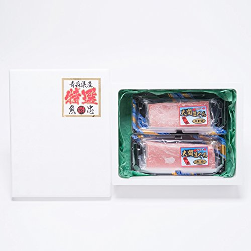 大間マグロ〔中トロ200g×1・赤身200g×1〕