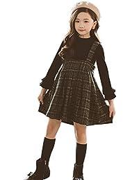 b55ffc522a8b2 Amazon.co.jp  グリーン - ワンピース・チュニック   ガールズ  服 ...