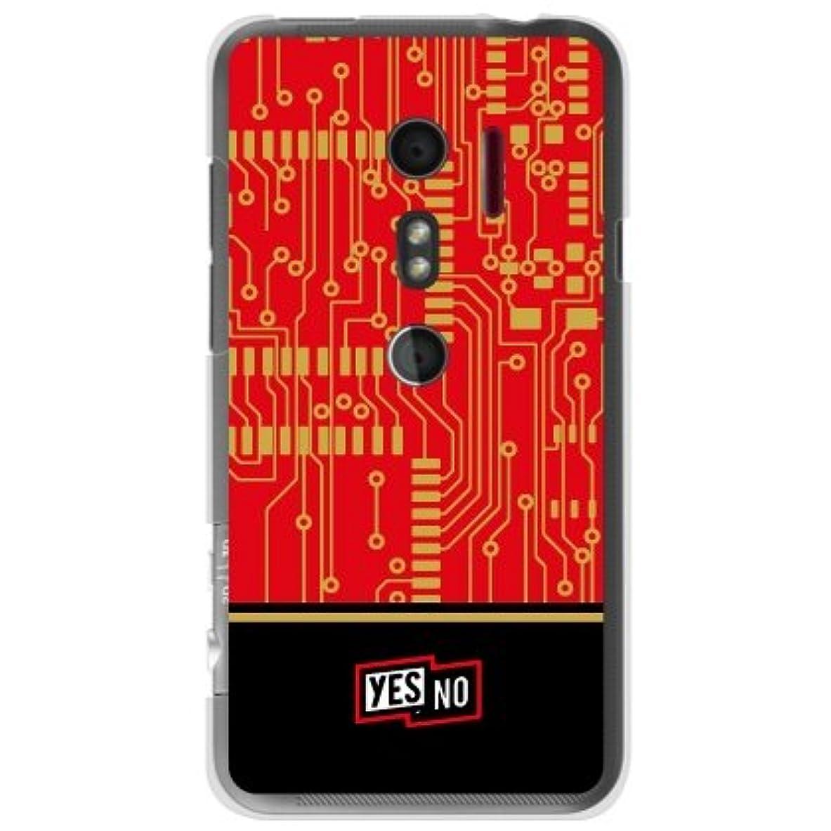 メアリアンジョーンズ賛美歌規定YESNO エレクトロボード レッド (クリア) / for HTC EVO 3D ISW12HT/au AHTEV3-PCCL-201-N116
