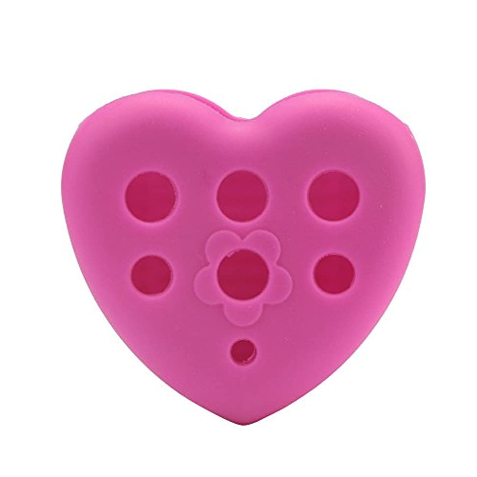 シリコーン YOKINO 洗濯板 ポータブル メイクブラシクリーナー 洗浄ブラシ 清掃ブラシ 旅行 や 外泊 の 必需品 化粧ブラシクリーナー化粧筆洗う ハート (HOT)