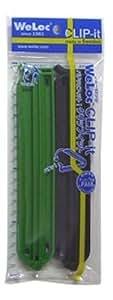 ウェーロック社 クリップイット PA150mm 2個セット(緑黒)