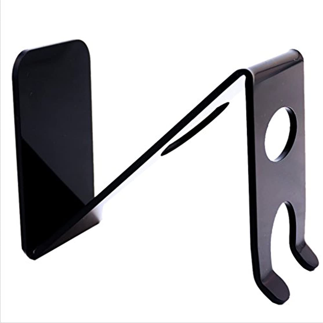 画面調和のとれた形状sharprepublic シェービングブラシ 剃刀 ホルダー スタンド プラスチック z-形状 ブラック 理髪サロン