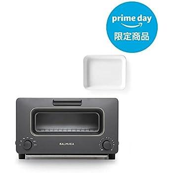 バルミューダ スチームオーブントースター BALMUDA The Toaster K01E-KG(ブラック)+野田琺瑯ホワイトバット 21取(バルミューダ ロゴ入り) プライムデー限定販売