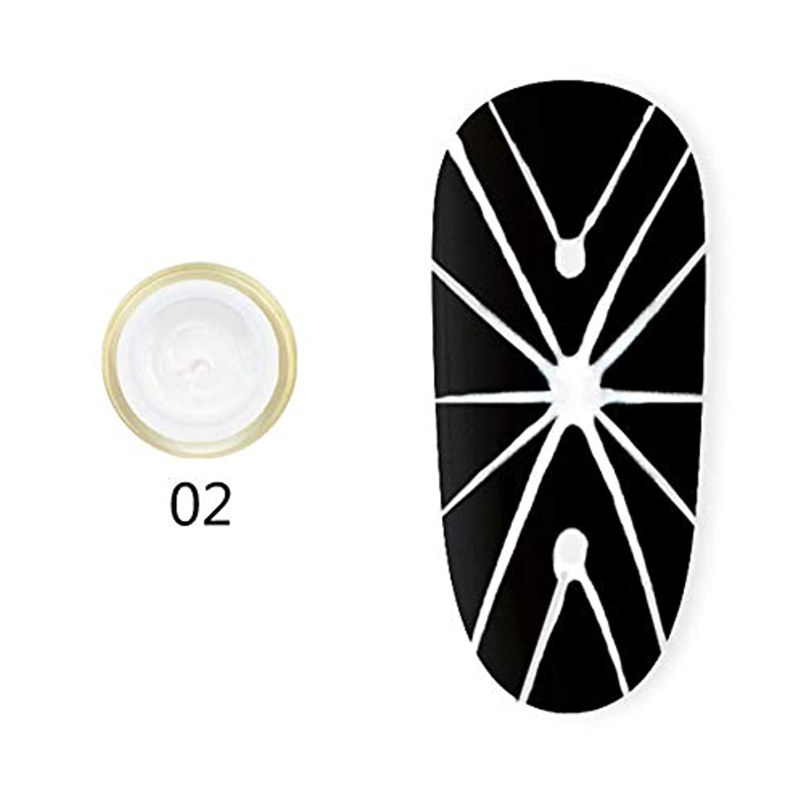 立派な意志に反するパークhamulekfae-弾性クモ画線ワイヤーペインティングジェルDIY UVネイルジェルポリッシュラッカー White