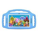 子供用タブレットAndroid 7インチ、HDディスプレイ、クアッドコア、キッズタブレットpc 7インチ、WiFi、デュアルカメラ、Bluetooth、教育、タッチスクリーンの子供モード、ペアレンタルコントロール付きの1GBメモリ+ 8GB ROM (ブルー)