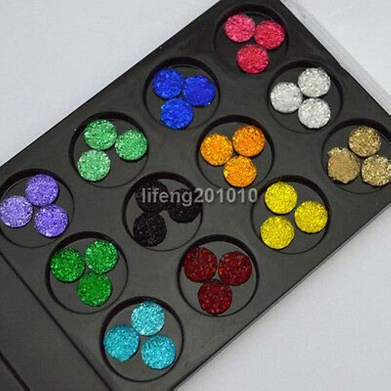 FidgetGear 36PCS 3Dアクリルフラットバック携帯電話ネイルアートデコレーションキラキララインストーン