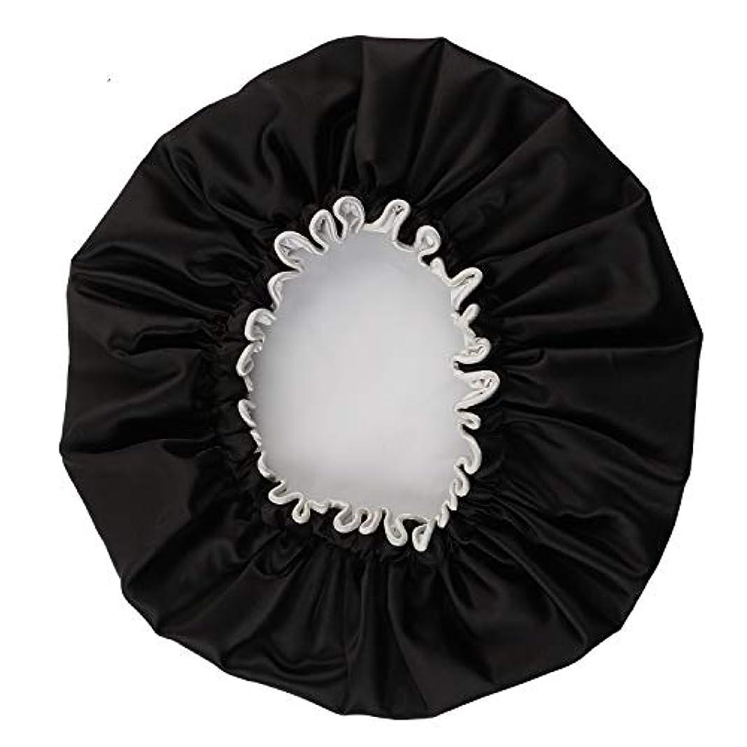 大邸宅アシュリータファーマントチの実の木NEOVIVA シャワーキャップ 可愛い ヘアキャップ ヘアーキャップ ヘアーターバン 防水帽 入浴キャップ 帽子 お風呂 旅行セット ブラック