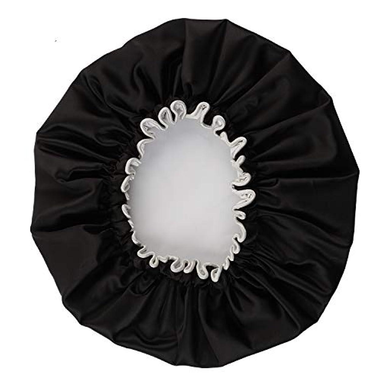 位置づけるシロクマNEOVIVA シャワーキャップ 可愛い ヘアキャップ ヘアーキャップ ヘアーターバン 防水帽 入浴キャップ 帽子 お風呂 旅行セット ブラック