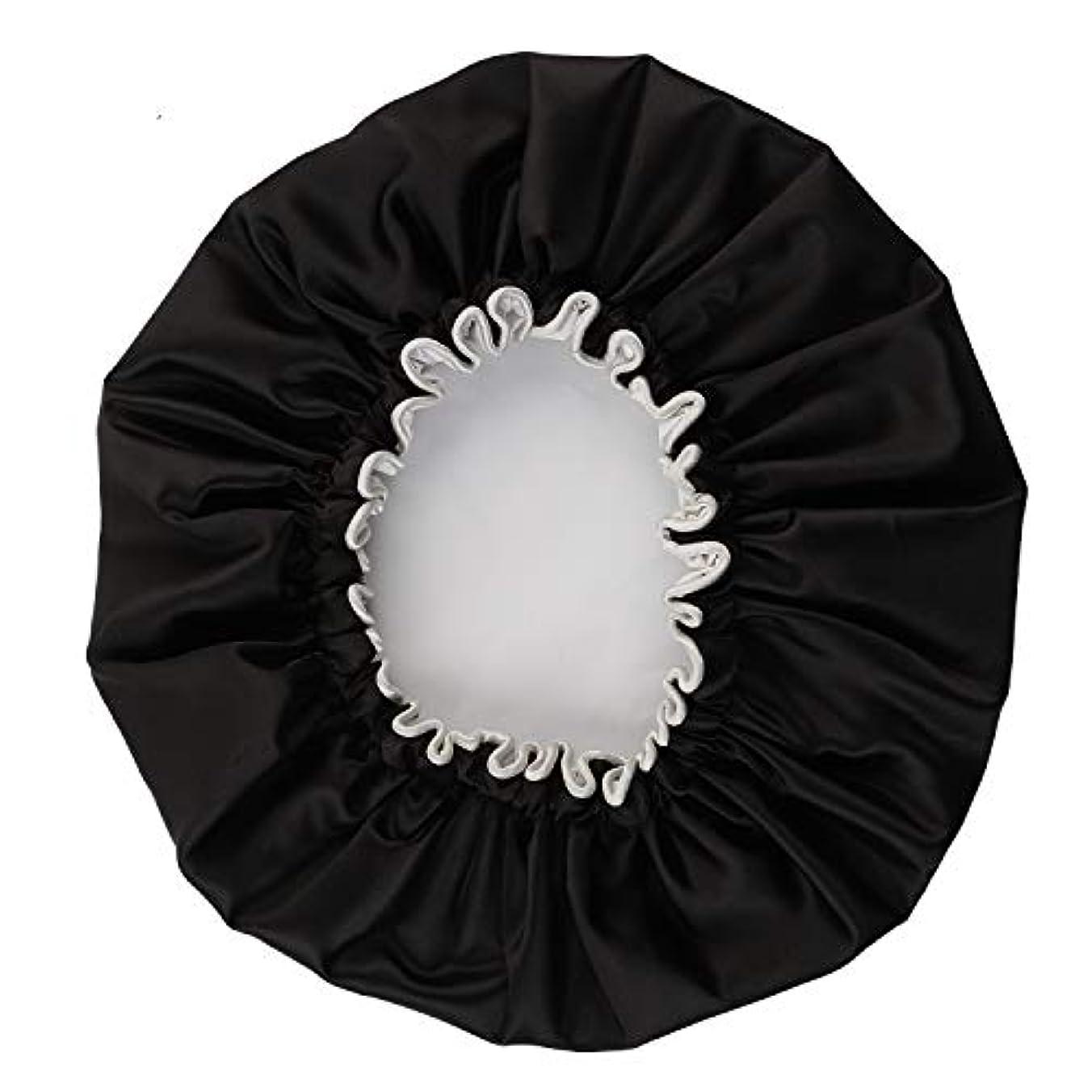 女の子代名詞ジョグNEOVIVA シャワーキャップ 可愛い ヘアキャップ ヘアーキャップ ヘアーターバン 防水帽 入浴キャップ 帽子 お風呂 旅行セット ブラック
