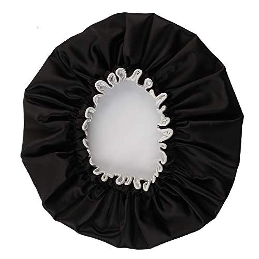 お酒パーフェルビッド反逆NEOVIVA シャワーキャップ 可愛い ヘアキャップ ヘアーキャップ ヘアーターバン 防水帽 入浴キャップ 帽子 お風呂 旅行セット ブラック