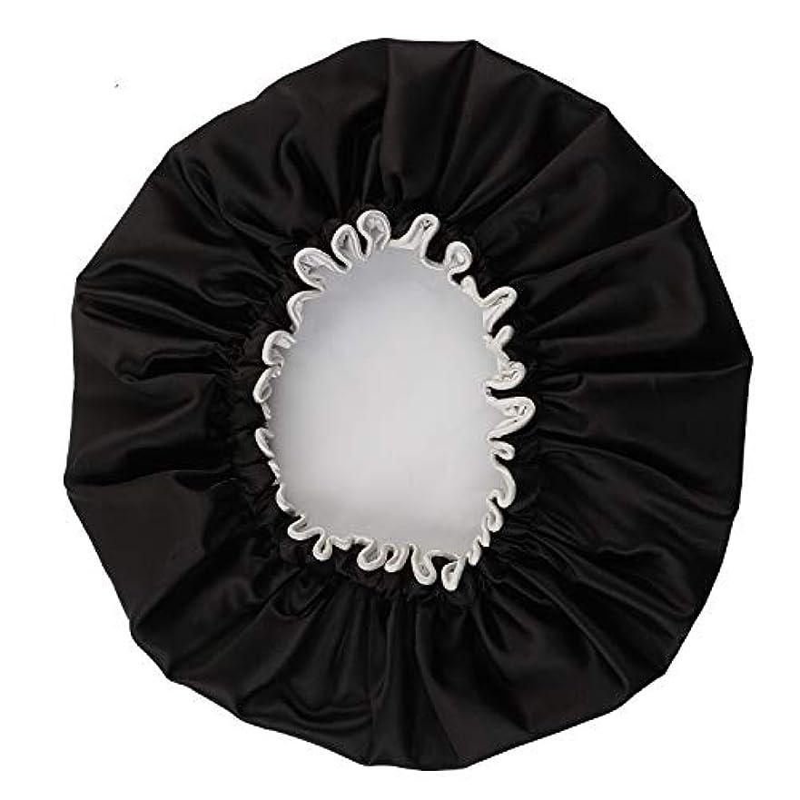 グレード司教六月NEOVIVA シャワーキャップ 可愛い ヘアキャップ ヘアーキャップ ヘアーターバン 防水帽 入浴キャップ 帽子 お風呂 旅行セット ブラック