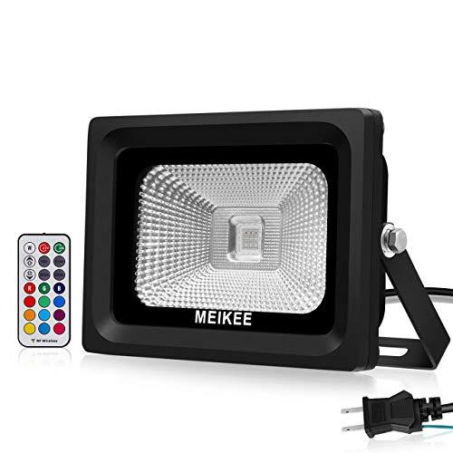 MEIKEE 改良版RGB投光器 16色切り替え可能 舞台照...