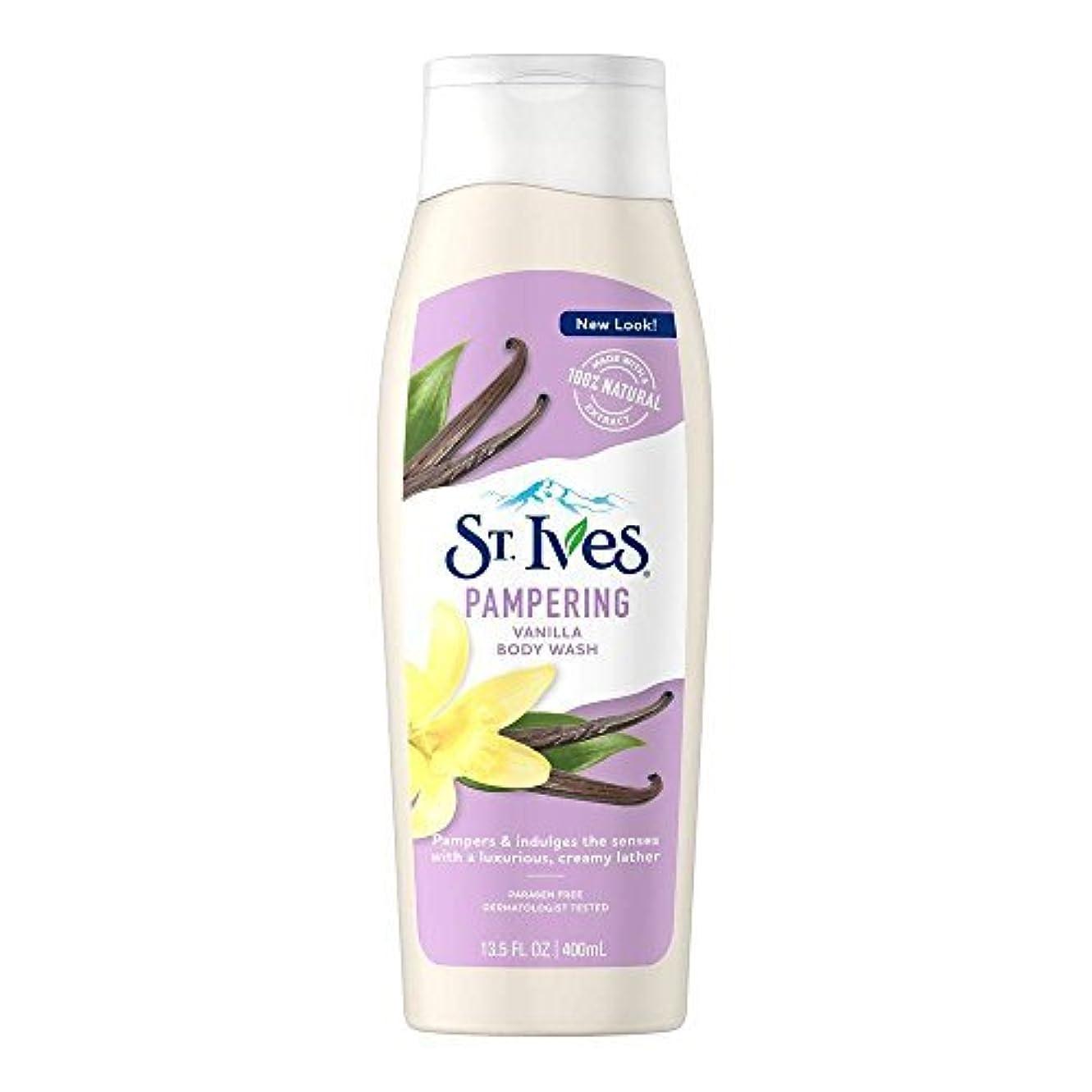 女の子出版St. Ives U-BB-1240 Creamy Vanilla Moisturizing Body Wash - 13.5 oz - Body Wash
