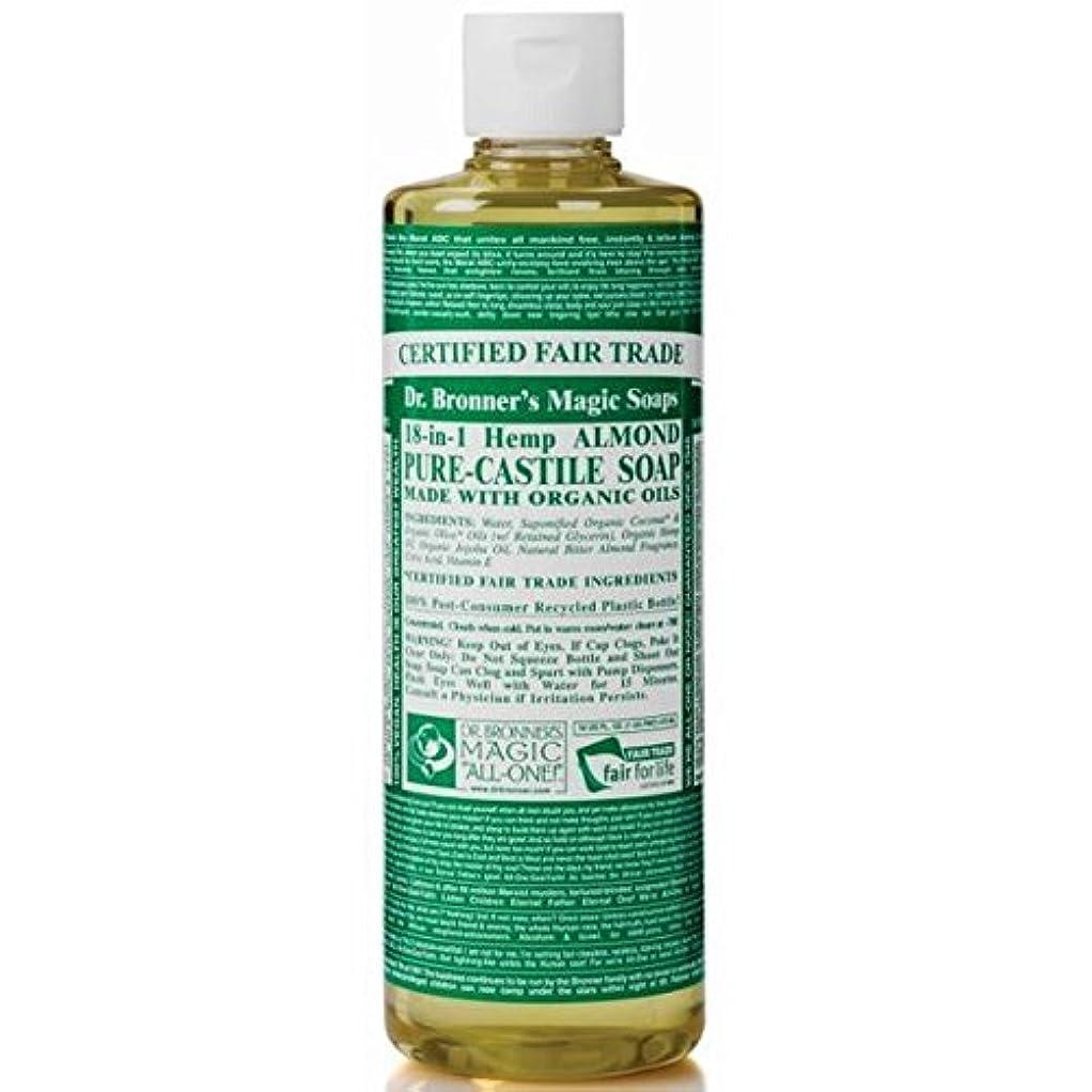 アマゾンジャングル無意識安定したDr Bronner Organic Almond Castile Liquid Soap 237ml (Pack of 6) - のブロナー有機アーモンドカスティーリャ液体石鹸237ミリリットル x6 [並行輸入品]