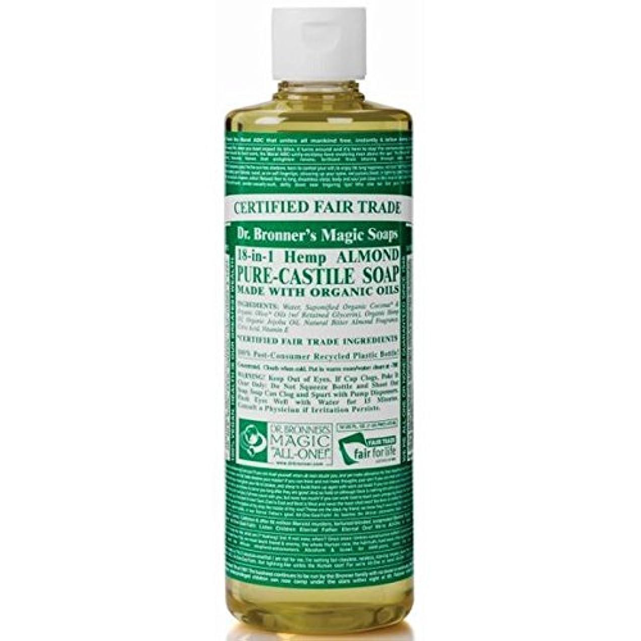 よく話されるピッチャーいつもDr Bronner Organic Almond Castile Liquid Soap 237ml (Pack of 6) - のブロナー有機アーモンドカスティーリャ液体石鹸237ミリリットル x6 [並行輸入品]