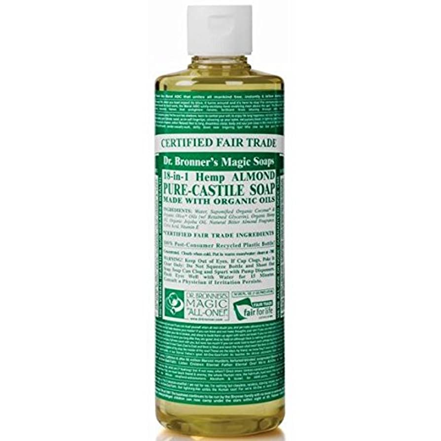 健康退院敬なDr Bronner Organic Almond Castile Liquid Soap 237ml (Pack of 6) - のブロナー有機アーモンドカスティーリャ液体石鹸237ミリリットル x6 [並行輸入品]