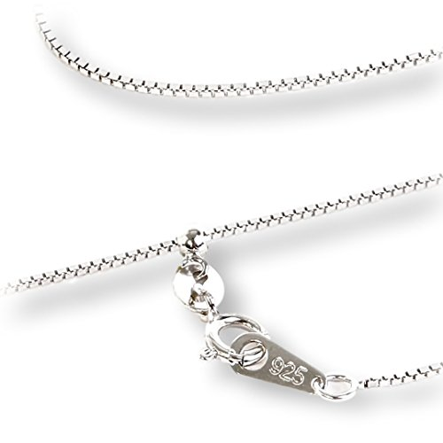 [MiRii MeRii] ベネチアンチェーン 長さ 無段階調整 フリースライド 式 ネックレス 用 チェーン 長さ:45cm 幅0.8mm silver925 プラチナロジウムコート (0.8mm, 45)