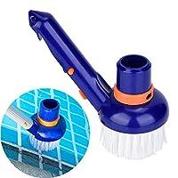 SAKATASプール自動清掃機ヘッド クリーニングブラシヘッド プール清掃用品 耐久性 高密度ポリエチレンブラシ ウォールブラシ プールクリーナー 掃除ブラシ クリーナー ハンディブラシ 床ブラシ 壁ブラシ 清掃用品 藻を取り除く プール 温泉 サウナ SAP 実用的 軽量 持ち運び便利 時間と労力を節約 (ブルー)