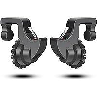 「最新改良強化版」PUBG Mobile 荒野行動対応コントローラー ALLFUN射撃用押しボタン 誤触防止スマホホルダー機能付き 感応式射撃で補助クイックショットボタンゲームパッド 高耐久ボタン押しボタン人間工学設計 iPhone/Android対応 高感度 軽量「荒野行動に対応できる」「2個入れ」
