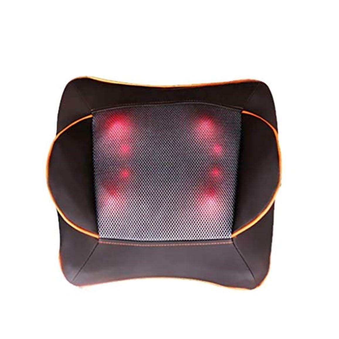 電動マッサージ枕、指圧マッサージ首マッサージ-マッサージ枕、ホットショルダー、ウエスト、脚、足を混練-ホームオフィスや車で使用して筋肉痛を和らげます
