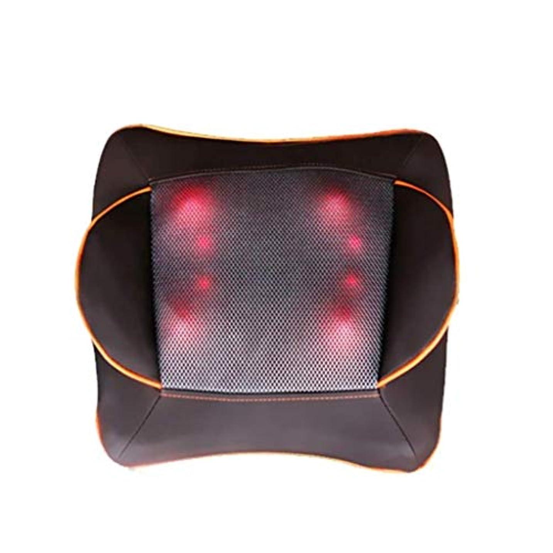 おもてなし合併症ダウンタウン電動マッサージ枕、指圧マッサージ首マッサージ-マッサージ枕、ホットショルダー、ウエスト、脚、足を混練-ホームオフィスや車で使用して筋肉痛を和らげます