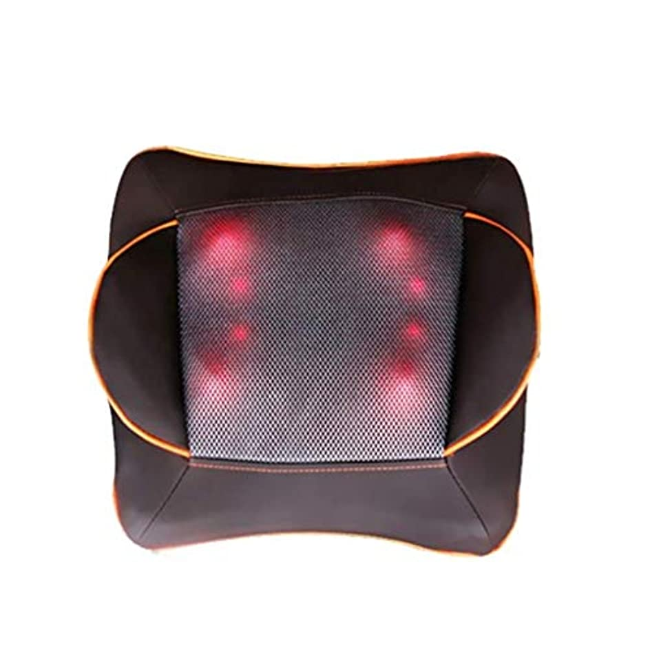 せがむ所属展開する電動マッサージ枕、指圧マッサージ首マッサージ-マッサージ枕、ホットショルダー、ウエスト、脚、足を混練-ホームオフィスや車で使用して筋肉痛を和らげます