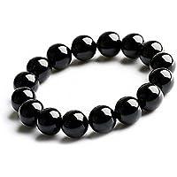 天然石 高品質 黒瑪瑙 オニキス 数珠 厄除け 魔除け 上質 浄化用さざれ パワーストーン ブレスレット