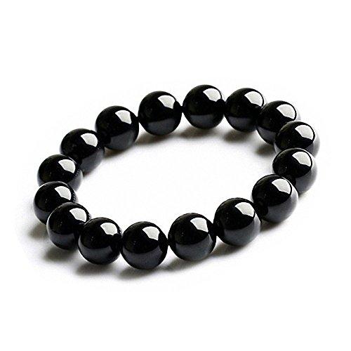 オニキス 12mm 天然素材 黒瑪瑙 念珠 数珠 男性用 女性用 パワーストーン 天然石(12mm)