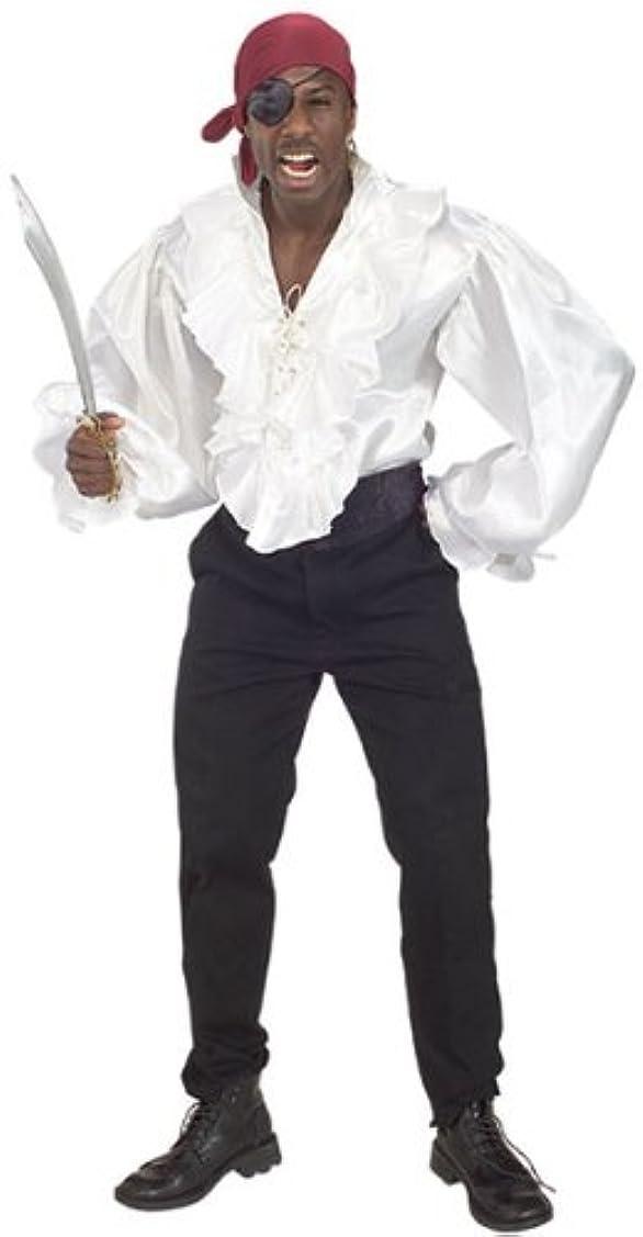 エーカー申し立てる個人的にルービーズ RUBIE'S サテンの海賊シャツ(品番902) SEC-902-STD