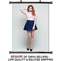 Lee sung-kyung韓国女優モデルファブリック壁スクロールポスター( 16 x 24 )インチ