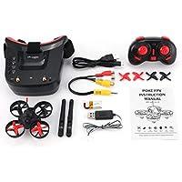 MolySun 5.8G 40CH FPVカメラミニRCレーシングドローンクアドコプターと3インチヘッドセットゴーグル 赤、黒