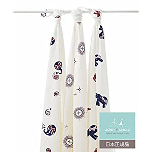 aden + anais (エイデンアンドアネイ) 【日本正規品】 バンブーおくるみ 3枚セット diwali 3 pack bamboo swaddles-9203