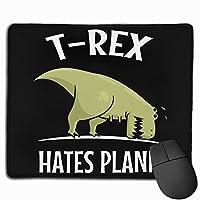 マウスパッド T-Rex Hates Plank 光学式マウス対応 おしゃれ 滑り止め 防水 耐洗い表面 オフィス用 家庭用 30*25CM