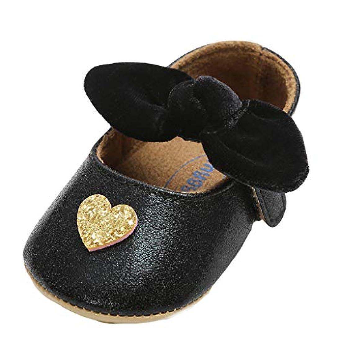 男やもめレンディションベール弓の赤ちゃん幼児靴